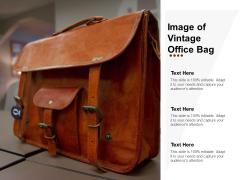 Image Of Vintage Office Bag Ppt Powerpoint Presentation File Format Ideas