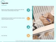 Immovable Property CRM Agenda Ppt PowerPoint Presentation Visual Aids Example File