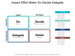 Impact Effort Matrix Do Decide Delegate Ppt PowerPoint Presentation Ideas Files