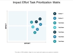 Impact Effort Task Prioritization Matrix Ppt PowerPoint Presentation Infographics Show