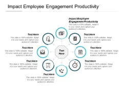 Impact Employee Engagement Productivity Ppt PowerPoint Presentation Icon Graphics Cpb