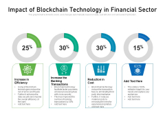 Impact Of Blockchain Technology In Financial Sector Ppt PowerPoint Presentation Diagram Templates PDF