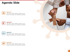 Impact Of COVID 19 On The Hospitality Industry Agenda Slide Icons PDF