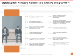 Impact Of COVID 19 On The Hospitality Industry Digitalizing Hotel Premises To Maintain Social Distancing During COVID 19 Mockup PDF