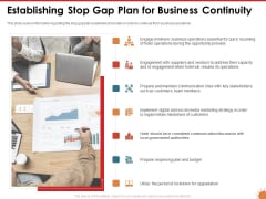 Impact Of COVID 19 On The Hospitality Industry Establishing Stop Gap Plan For Business Continuity Clipart PDF