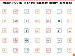 Impact Of COVID 19 On The Hospitality Industry Icons Slide Summary PDF