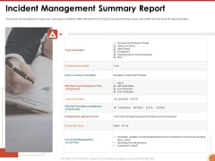 Impact Of COVID 19 On The Hospitality Industry Incident Management Summary Report Download PDF