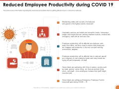 Impact Of COVID 19 On The Hospitality Industry Reduced Employee Productivity During COVID 19 Download PDF