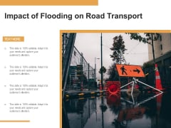 Impact Of Flooding On Road Transport Ppt PowerPoint Presentation Show Themes PDF