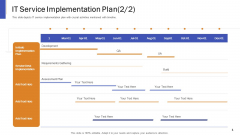 Impeccable Information Technology Facility IT Service Implementation Plan Ppt Styles Example PDF