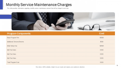 Impeccable Information Technology Facility Monthly Service Maintenance Charges Guidelines PDF