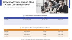 Impeccable Information Technology Facility Service Agreements And Slas Client Office Information Inspiration PDF