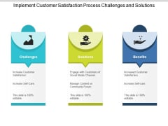 Implement Customer Satisfaction Process Challenges And Solutions Ppt PowerPoint Presentation Portfolio Layouts