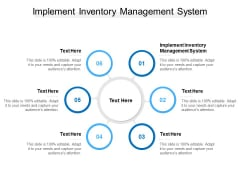 Implement Inventory Management System Ppt PowerPoint Presentation Professional Display Cpb