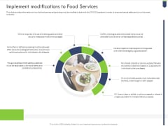 Implement Modifications To Food Services Brochure PDF