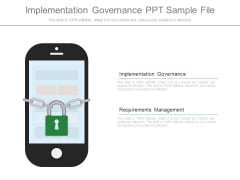 Implementation Governance Ppt Sample File