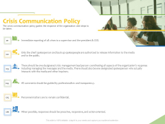 Implementation Of Risk Mitigation Strategies Within A Firm Crisis Communication Policy Ppt Icon Backgrounds PDF