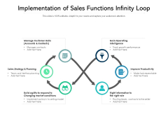 Implementation Of Sales Functions Infinity Loop Ppt PowerPoint Presentation Infographic Template Show PDF