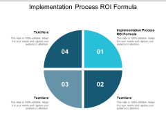 Implementation Process ROI Formula Ppt PowerPoint Presentation Inspiration Smartart Cpb