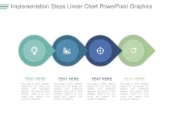 Implementation Steps Linear Chart Powerpoint Graphics