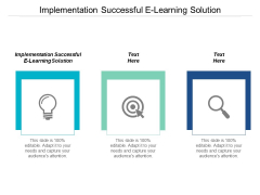 Implementation Successful E Learning Solution Ppt PowerPoint Presentation Portfolio Guidelines Cpb