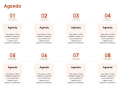 Implementing Agile Marketing In Your Organization Agenda Ppt Slides Templates PDF