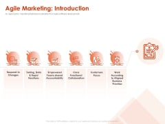 Implementing Agile Marketing In Your Organization Agile Marketing Introduction Ppt Icon Example File PDF