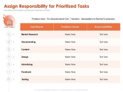 Implementing Agile Marketing In Your Organization Assign Responsibility For Prioritized Tasks Ppt Show Model PDF