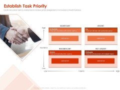 Implementing Agile Marketing In Your Organization Establish Task Priority Ppt Show Vector PDF