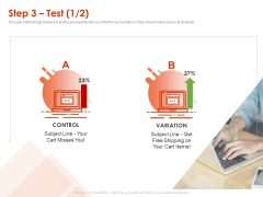 Implementing Agile Marketing In Your Organization Step 3 Test Ppt Model Brochure PDF