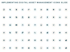 Implementing Digital Asset Management Icons Slide Ppt Infographic Template Professional PDF