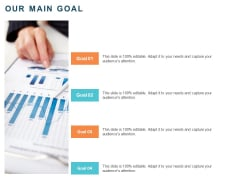 Implementing Digital Asset Management Our Main Goal Ppt Infographics Guide PDF