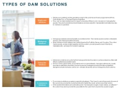 Implementing Digital Asset Management Types Of Dam Solutions Ppt Infographic Template Graphics Pictures PDF