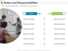 Implementing Human Resources HR Best Practices Strategy 6 Roles And Responsibilities Ppt Show Display PDF