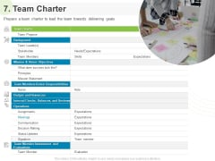 Implementing Human Resources HR Best Practices Strategy 7 Team Charter Ppt Summary Show PDF