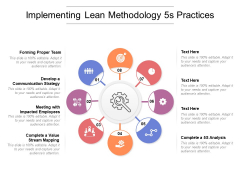 Implementing Lean Methodology 5s Practices Ppt PowerPoint Presentation File Icon PDF