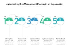 Implementing Risk Management Process In An Organization Ppt PowerPoint Presentation File Summary PDF