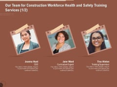 Implementing Safety Construction Our Team For Construction Workforce Health And Training Services Microsoft PDF