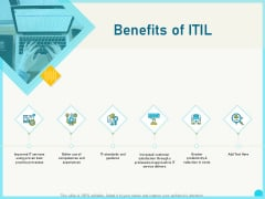 Implementing Service Level Management With ITIL Benefits Of ITIL Ppt PowerPoint Presentation Model Templates PDF