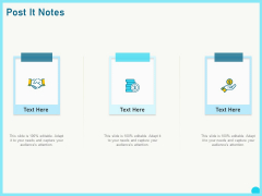 Implementing Service Level Management With ITIL Post It Notes Ppt PowerPoint Presentation Gallery Outfit PDF