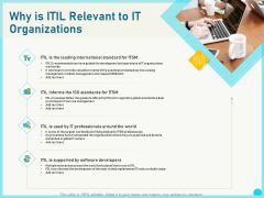 Implementing Service Level Management With ITIL Why Is ITIL Relevant To IT Organizations Portrait PDF