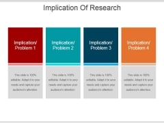 Implication Of Research Ppt PowerPoint Presentation Ideas Graphic Tips