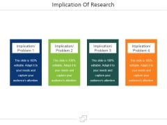 Implication Of Research Ppt PowerPoint Presentation Outline Visual Aids