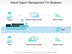 Import Export Management For Business Ppt PowerPoint Presentation Show Mockup