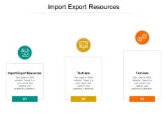 Import Export Resources Ppt PowerPoint Presentation Gallery Graphics Template Cpb Pdf
