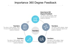 Importance 360 Degree Feedback Ppt PowerPoint Presentation Ideas Objects Cpb Pdf