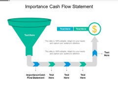 Importance Cash Flow Statement Ppt PowerPoint Presentation Infographic Template Slides Cpb