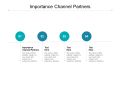 Importance Channel Partners Ppt PowerPoint Presentation Summary Pictures Cpb