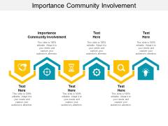 Importance Community Involvement Ppt PowerPoint Presentation Inspiration Diagrams Cpb