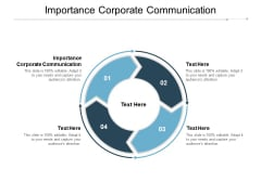 Importance Corporate Communication Ppt PowerPoint Presentation Icon Maker